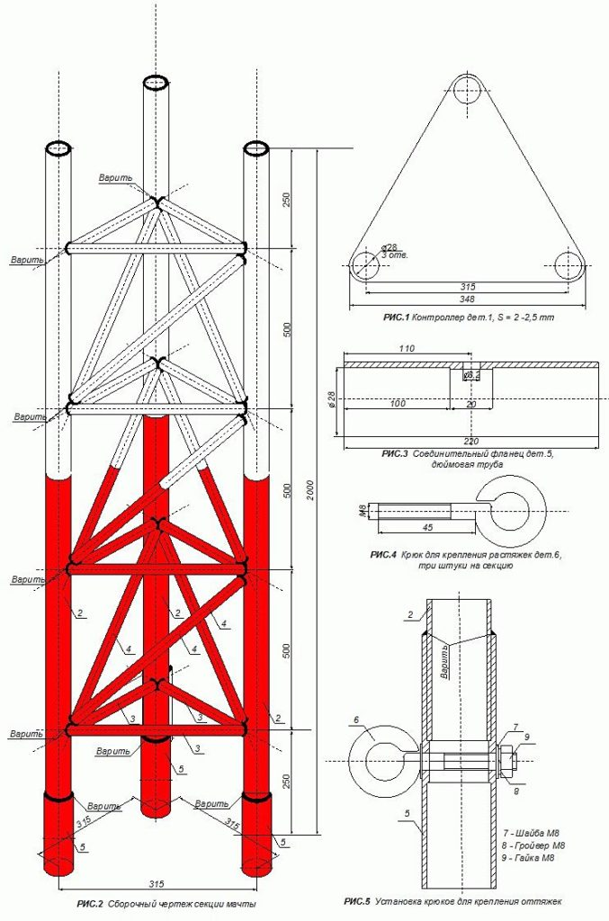 Антенно-мачтовое сооружение сотовой связи
