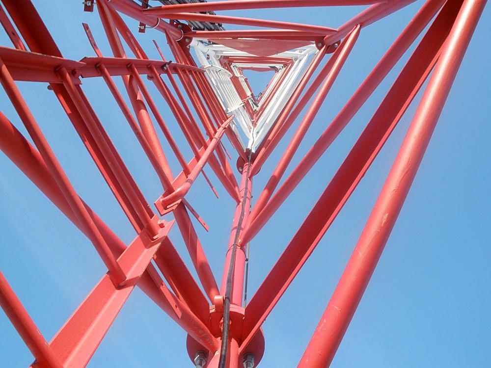 Антенно-мачтовое сооружение (АМС) после монтажа