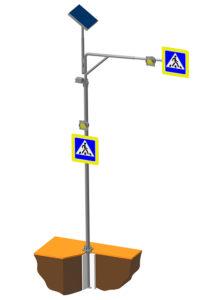 Консольная опора дорожного знака Г-образная