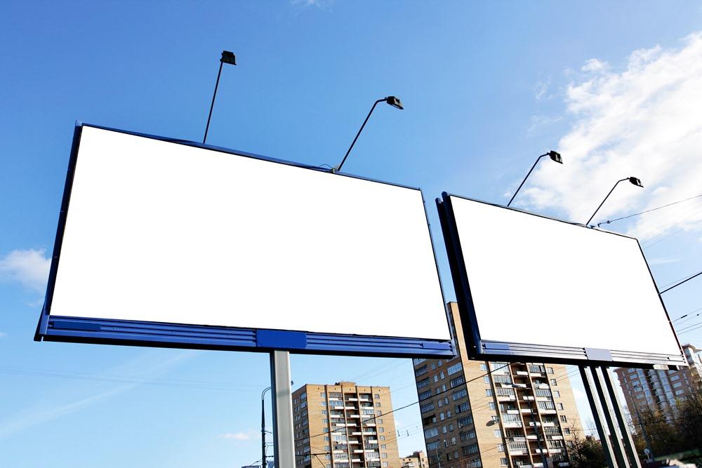 Монтаж рекламного щита