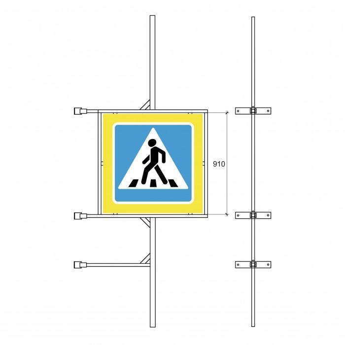 Кронштейн знака дорожного движения