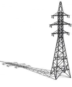 Металлические опоры ЛЭП и схема установки