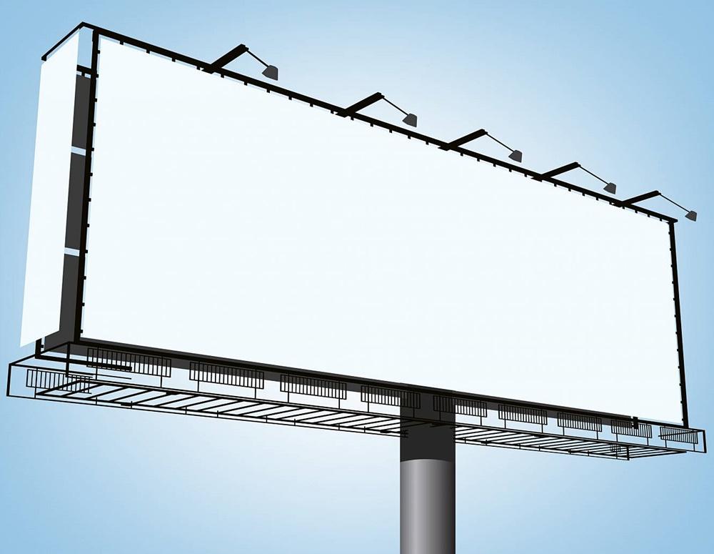Рекламный билборд: установка и монтаж