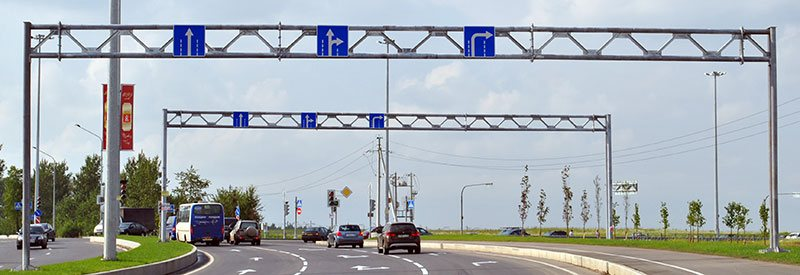 Рамные опоры дорожных знаков